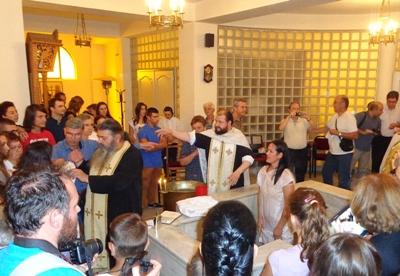 Ομαδική βάπτιση στην Κορυτσά